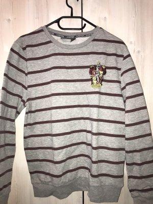 Graues Sweatshirt mit Streifen