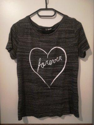 graues T-Shirt, Gr. S, ungetragen, H&M