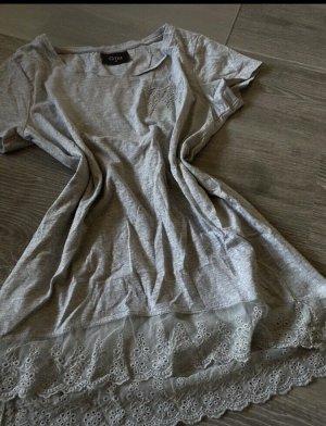 Graues T-Shirt mit Details