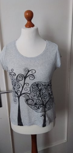 Graues T-Shirt mit Motiv aus Bio-Baumwolle