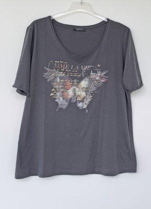 graues T-Shirt mit Schmetterling, Via Appia, Gr. 46