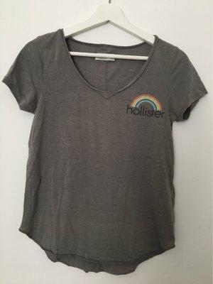 Hollister T-shirt szary Bawełna