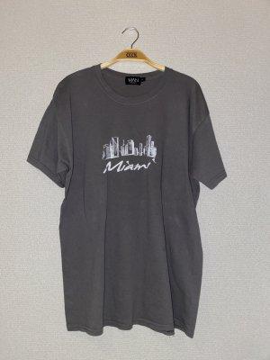 Bohoo T-shirt szary-biały