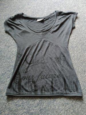 graues Tshirt mit Print von Urbansurface in Größe S