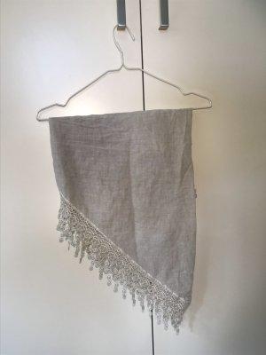 Fazzoletto da collo grigio chiaro-argento