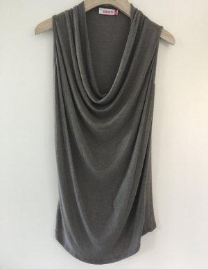 Kontatto Top collo ad anello grigio Tessuto misto