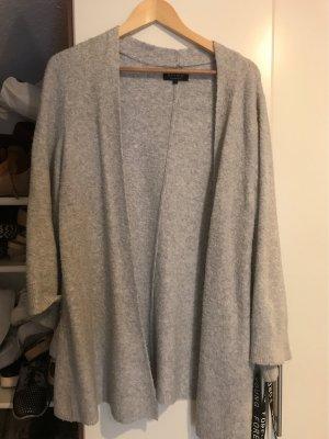 Review Gilet long tricoté gris-gris clair