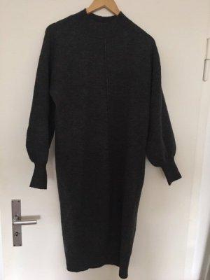 Asos Woolen Dress grey-dark grey spandex