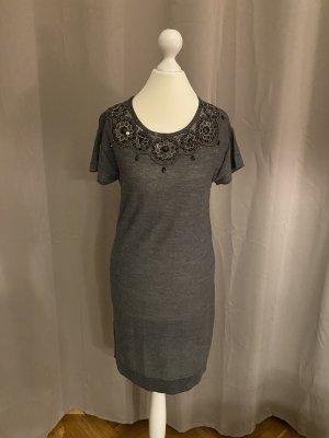 Mango Suit Woolen Dress anthracite-dark grey wool