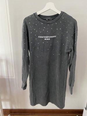 Zara Sweat Dress grey-silver-colored