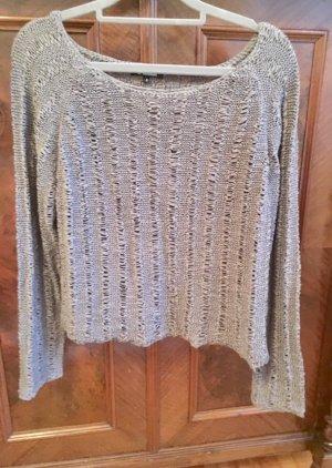 Minimum Crochet Sweater green grey