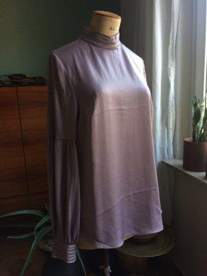 H&M Blouse à col montant mauve-gris lilas polyamide
