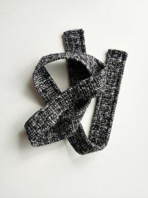 Ceinture en tissu noir-gris