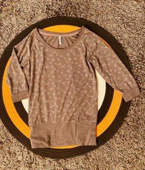 graumeliertes Shirt mit Herzchen, Gr.XS