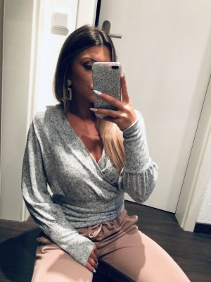 Vero Moda Maglietta aderente grigio chiaro-grigio