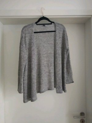 Graumellierter Cardigan von H&M, Strickjacke, Basic
