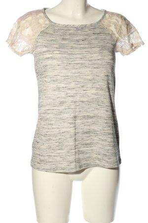 grayson T-Shirt creme-hellgrau meliert Casual-Look