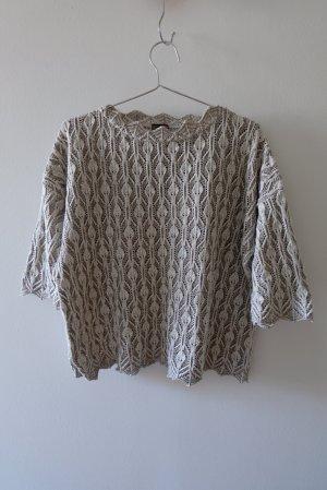 Vintage Short Sleeve Sweater natural white-beige