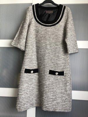 Great Plains Kleid S grau weiss schwarz