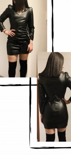 Paccio Vestito in pelle nero