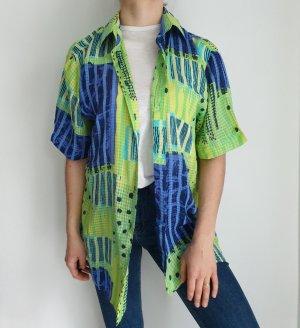 green blau Hemd True vintage Bluse oversize pulli pullover top Shirt