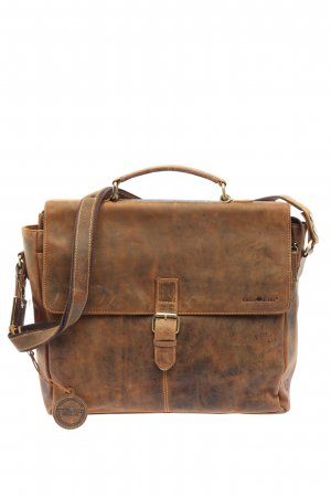 Green Burry Laptop bag brown casual look