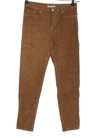 Green Coast Spodnie sztruksowe brązowy W stylu casual