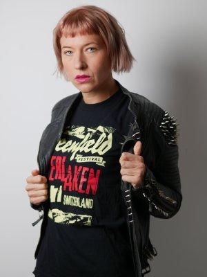 Bandshirt Shirt met print veelkleurig Katoen