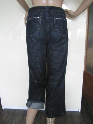 3/4-jeans blauw-zwart Katoen
