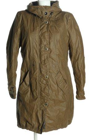 Greenstone Pikowany płaszcz brązowy W stylu casual
