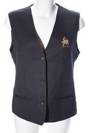 Greiff Gilet de costume noir-bleu motif rayé style d'affaires