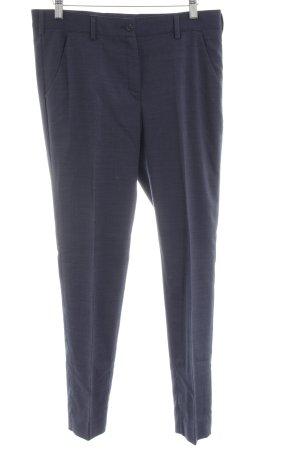 Greiff Pantalón de pinza azul moteado estilo «business»