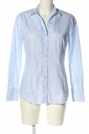 Greiff Hemd-Bluse blau Allover-Druck Business-Look