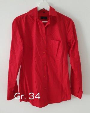 Greiff Langarmbluse Regular Fit Rot gr34