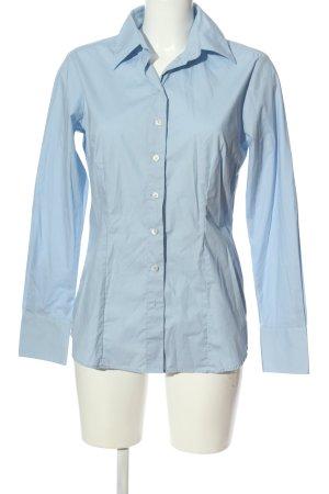 Greiff Langarmhemd blau Business-Look