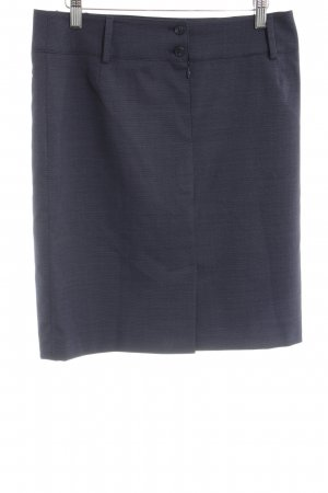 Greiff Wool Skirt blue business style