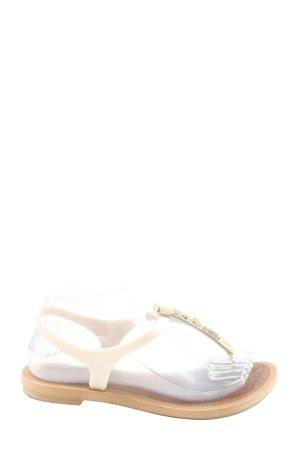Grendene Sandalo toe-post bianco-crema stile casual