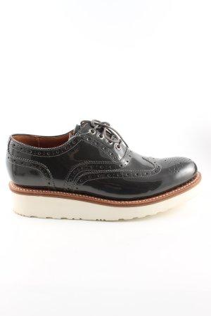 GRENSON Zapatos brogue negro look casual