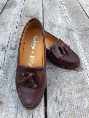 Greve Zapatos de marinero marrón Cuero