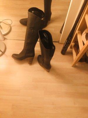 Botas de tacón alto gris oscuro