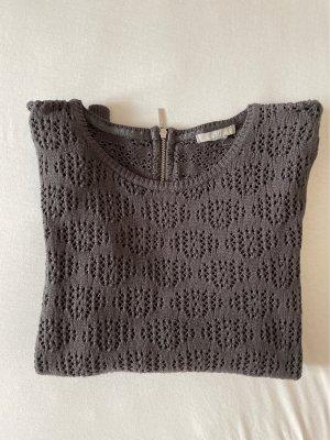 H&M Crochet Top grey