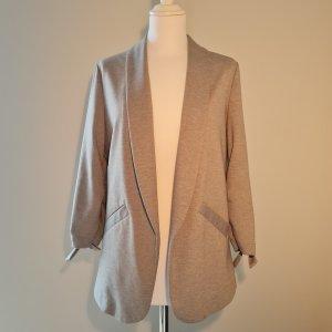 Grey Soft Long Blazer