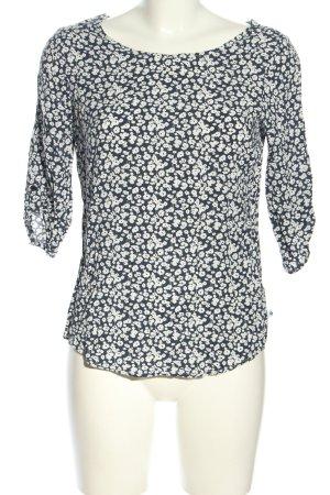 Greystone Schlupf-Bluse schwarz-weiß Allover-Druck Casual-Look