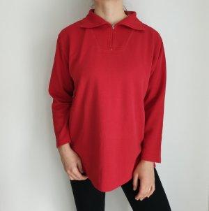 Greystone XL Red Oversize Pullover Hoodie Pulli Sweater Strickjacke Top Oberteil True Vintage