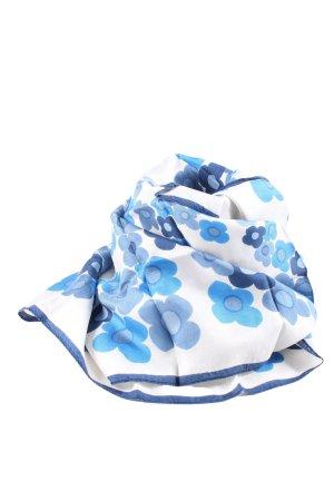 Griffin Jedwabna chusta niebieski-biały Na całej powierzchni W stylu casual