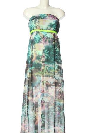 GRIP schulterfreies Kleid abstraktes Muster Casual-Look