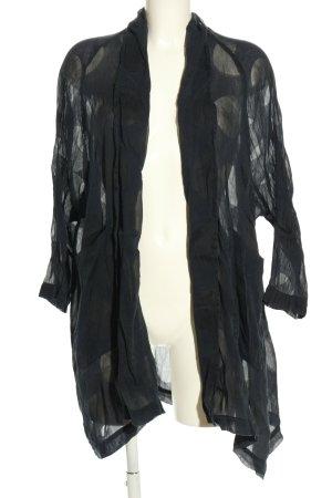 Grizas Kimono nero-bianco sporco motivo a pallini stile casual