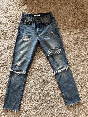 GRLFRND Jeans slim fit blu fiordaliso Cotone