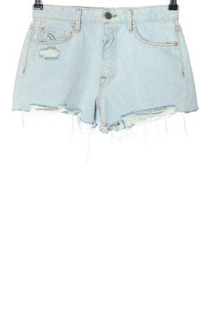 GRLFRND High-Waist-Shorts blau Casual-Look