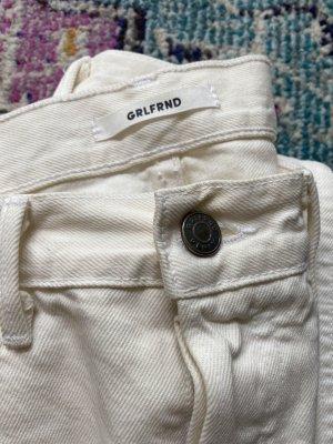 GRLFRND Wortel jeans wolwit